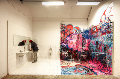 『Panic restrooms』 Stavenger 2014, dimensions variable photo by Ian Cox