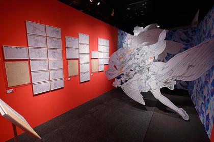 『アニメがうごく~アニメーション創造の現場~』展示風景 ©BONES・會川 昇/コンクリートレボルティオ製作委員会