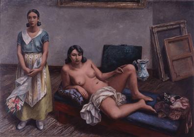 猪熊弦一郎 『画室』1932年 © 公益財団法人ミモカ美術振興財団