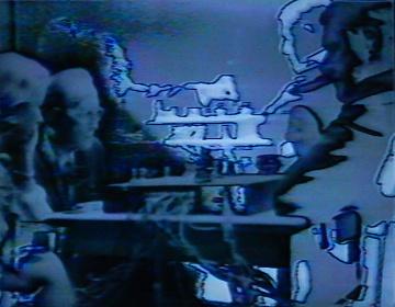 シゲコ・クボタ『マルセル・デュシャンとジョン・ケージ』1972年  Courtesy of Electronic Arts Intermix(EAI), New York. © Shigeko Kubota