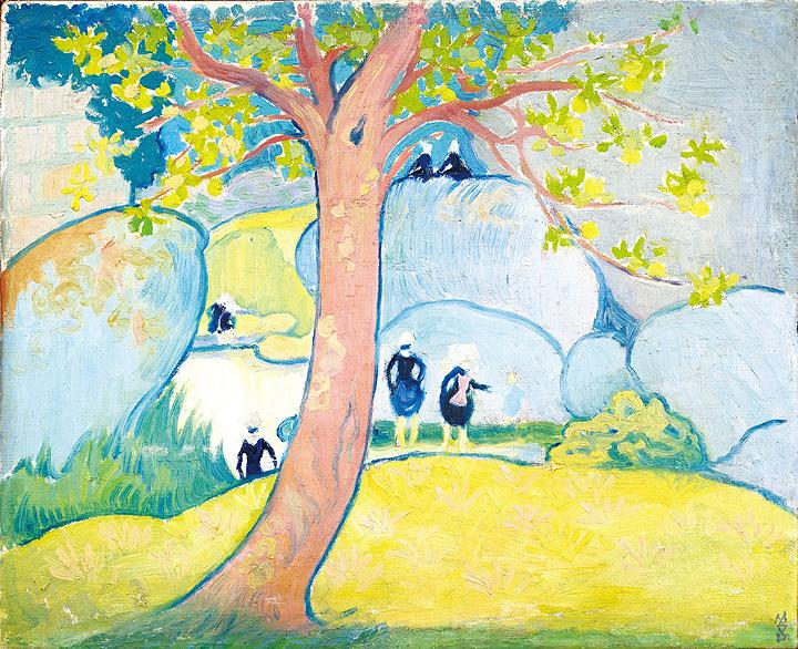 モーリス・ドニ『小さなブルターニュの女性、沼のほとり』1892年頃 29.5×36.5cm個人蔵 Collectionprivée
