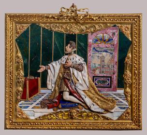 ヨナス・ファルク ミケーレ・カストルッチ グアルティエーリ・ディ・アンニバレ・チェッキ ジュリオ・パリージの下絵に基づく『コジモ2世・デ・メディチのエクス・ヴォート(奉納品)』1617-1624年ピエトレ・ドゥーレ(貴石モザイク) 金 多色七宝 ダイヤモンド 鍍金ブロンズフィレンツェ ウフィツィ美術館(銀器博物館)蔵 ©Firenze, Gallerie degli Uffizi, Museo degli Argenti