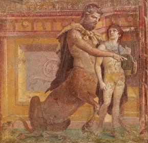 『ケイロンによるアキレウスの教育』後1世紀 ナポリ国立考古学博物館蔵 ©ARCHIVIO DELL'ARTE - Luciano Pedicini / fotografo
