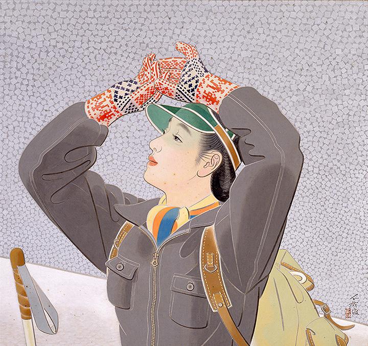 榎本千花俊『銀嶺』 1942年 東京国立近代美術館蔵 絹本彩色 68.7×73.1cm