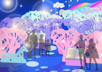 『シーパラ×増田セバスチャン「KAWAII 不思議 AQUARIUM ~ピンクの森と青い海~」』展示イメージビジュアル