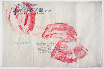 『Memory of No Memory, Hat Piece』1973 和紙にクレヨンと鉛筆 各 65 x 98 cm 11 枚 Courtesy of the artist and MISAKO & ROSEN