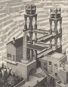 『滝』1961年 All M.C. Escher works copyright ©The M.C. Escher Company B.V. - Baarn-Holland. www.mcescher.com