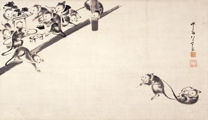 伊藤若冲『鼠婚礼図』