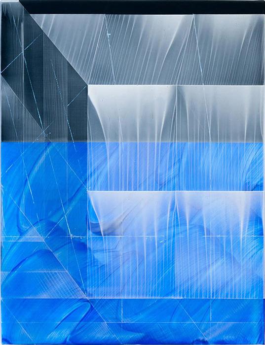 木村秀樹『a cloud / part 2』(スキージング) キャンバスにアクリル 2015 Courtesy of Gallery Nomart