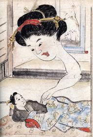 『稲生物怪録絵巻』(部分)万延元年(1860) 個人蔵 三次市教育委員会提供 会期中、巻替あり