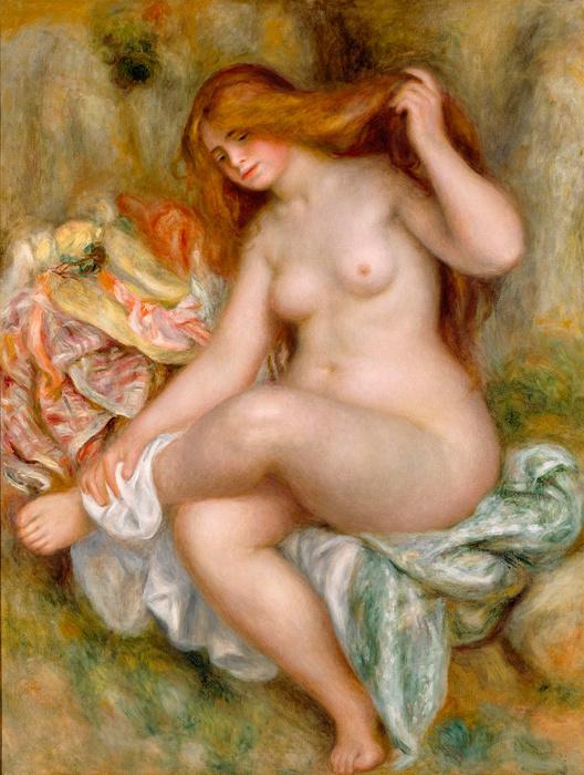 ピエール・オーギュスト・ルノワール『座る浴女』1903-1906年 Bequest of Robert H. Tannahill