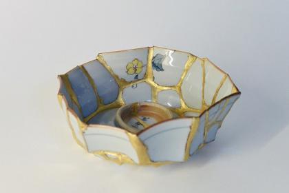 伊佐治雄悟 『bowl』 2016 茶碗、金継