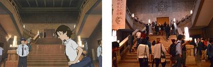 左から『時をかける少女』、東京国立博物館館内 ©「時をかける少女」製作委員会2006