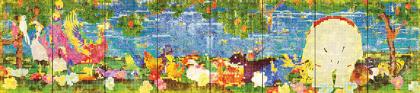 チームラボ『世界は、統合されつつ、分割もされ、繰り返しつつ、いつも違う/ United, Fragmented, Repeated and Impermanent World 』2013, インタラクティブデジタルワーク (9:16 x 8) 音楽: 高橋英明 ©teamLab, Courtesy the artist and Mizuma Art Gallery