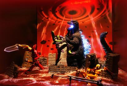『ゴジラ対エヴァンゲリオン ジオラマ大決戦』イメージビジュアル TM& ©TOHO CO.,LTD. ©カラー