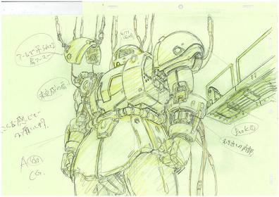 アニメーション『機動戦士ガンダム THE ORIGIN』原画 ©創通・サンライズ
