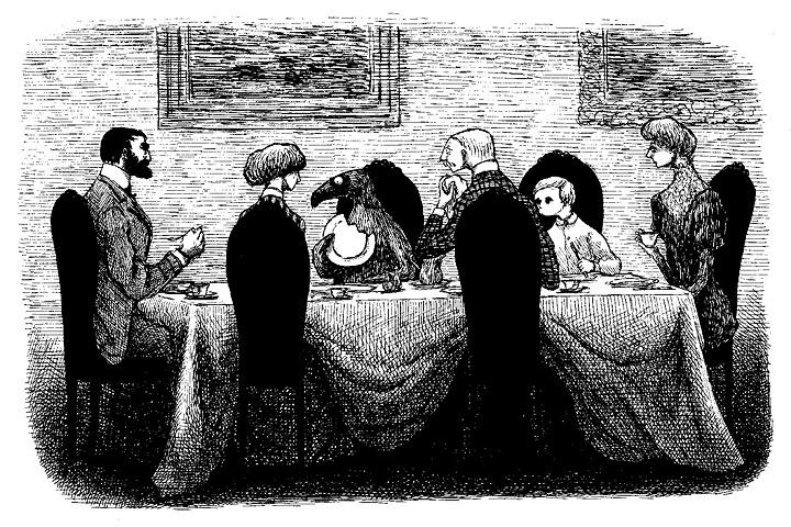 『うろんな客』原画 1957年 ©2010 The Edward Gorey Charitable Trust