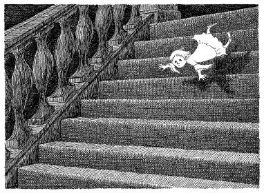 『ギャシュリークラムのちびっ子たち』原画 1963年 ©2010 The Edward Gorey Charitable Trust