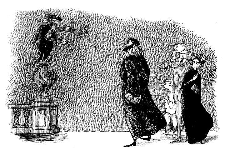 『うろんな客』原画 1957年 ©2010 The Edward Gorey Charitable Trust