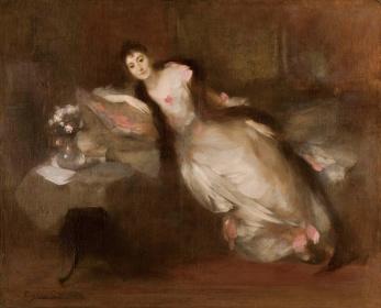 ウジェーヌ・カリエール『ポール・ガリマール夫人の肖像』1889年 油彩、キャンバス 83.0×102.0cm 個人蔵