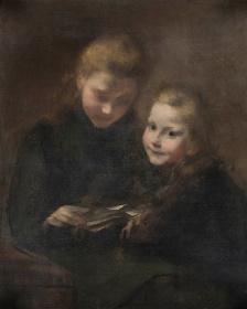 ウジェーヌ・カリエール『手紙』1887年頃 油彩、キャンバス 82.0×66.0cm 個人蔵
