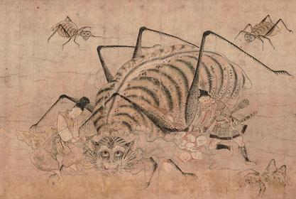 重要文化財『土蜘蛛草紙絵巻』(部分)鎌倉時代(14世紀)東京国立博物館蔵 Image:TNM Image Archives 前期(7月5日~7月31日)展示