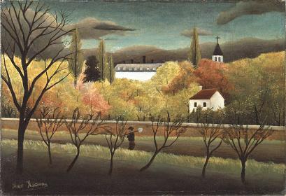 アンリ・ルソー『果樹園』1886年 油彩/カンヴァス ハーモ美術館蔵