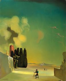 サルバドール・ダリ『謎めいた要素のある風景』 1934年 72.8×59.5cm 板に油彩 ガラ=サルバドール・ダリ財団蔵 Collection of the Fundació Gala-Salvador Dalí, Figueres © Salvador Dalí, Fundació Gala-Salvador Dalí, JASPAR, Japan, 2016