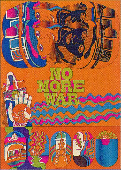 『反戦ポスター』 デザイン:田名網敬一 1968年