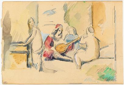 ポール・セザンヌ『ジョルジョーネの「田園の合奏」より』 1878年 ルーブル美術館素描画室蔵 © RMN-Grand Palais (musée d'Orsay) / Tony Querrec / distributed by AMF