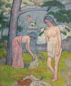 斎藤与里 『木陰』 1912年 加須市蔵