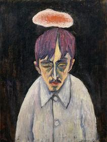 萬鉄五郎 『雲のある自画像』 1912-1913年岩手県立美術館蔵
