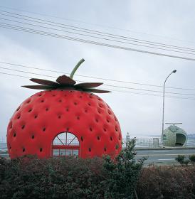 『フルーツバス停』(長崎県諫早市小長井町) ©Kyoichi Tsuzuki