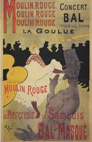 アンリ・ド・トゥールーズ=ロートレック『ムーラン・ルージュのラ・グーリュ』 1891年 三浦コレクション