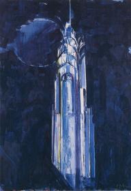 『朝陽(クライスラービル)』 1993年 笠間日動美術館蔵