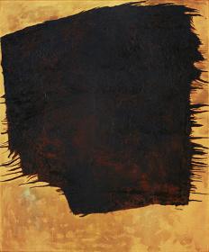 桂ゆき『作品』 1961年 油彩・紙、カンヴァス 186.0×151.5cm
