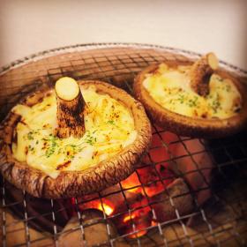 北海道中標津しいたけ想いの茸 大判しいたけチーズ焼き