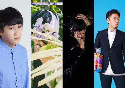 左からtomad、Moon Mask、Meishi Smile、tofubeats
