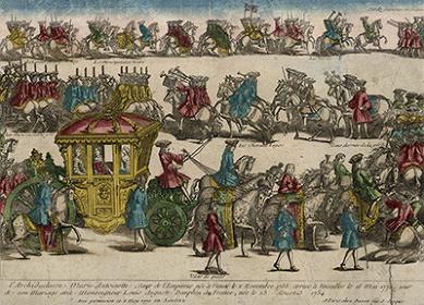 アンドレ・バセ『マリー・アントワネットのヴェルサイユ到着』1770年、ヴェルサイユ宮殿美術館 ©Chateau de Versailles
