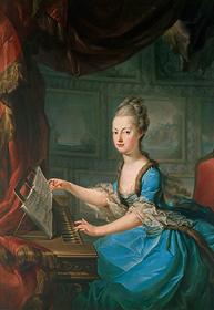 フランツ・クサーヴァー・ヴァーゲンシェーン『チェンバロを弾くオーストリア皇女マリー・アントワネット』1770年以前、ウィーン美術史美術館 Kunsthistorisches Museum, Wien