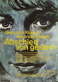 『昨日からの別れ』ポスター:フェリー・アーレ(1966年)ドイツ映画研究所所蔵
