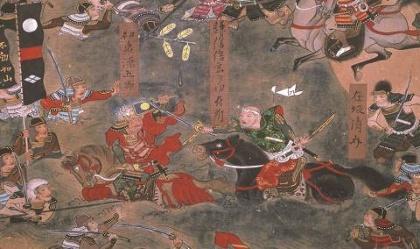 『米沢本 川中島合戦図屏風』左隻(部分) 米沢市上杉博物館蔵 ※前期(11月23日~12月25日)展示