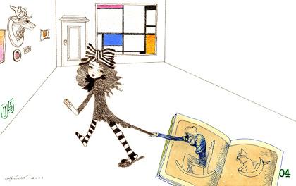 宇野亞喜良『ちょっと待って!』 『おばあさんになった女の子は』より 紙/色鉛筆・水彩 230×367㎜