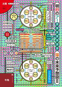 明日のアーvol.2『猫の未来予想図II』メインビジュアル デザイン:よシまるシン