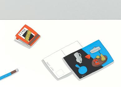 『安西水丸「ON THE TABLE」刊行記念展』イメージビジュアル