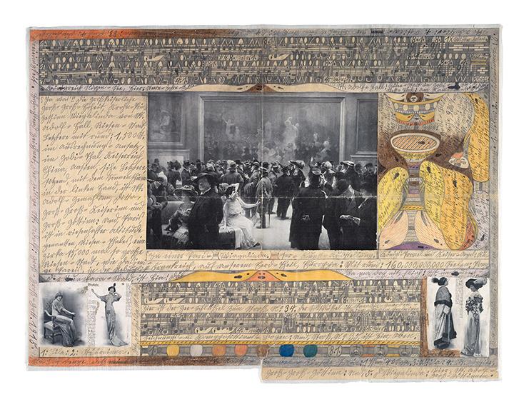 『パリの=美術=展覧会にて』1915年 ベルン美術館 アドルフ・ヴェルフリ財団蔵  ©Adolf Wölfli Foundation, Museum of Fine Arts Bern