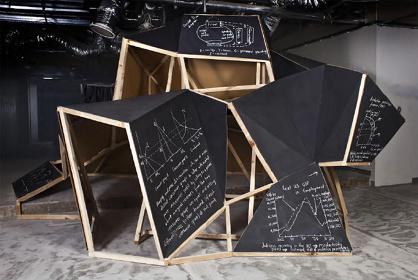 ピーター・ブース『Supporter』Installation photo from solo exhibition at The Wandering Room, Brisbane, Australia, 2012