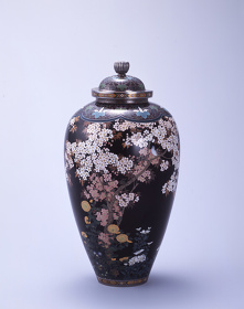 並河靖之 花鳥図飾壷 清水三年坂美術館蔵
