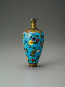 並河靖之 菊唐草文細首小花瓶 並河靖之七宝記念館蔵