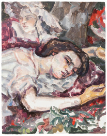 『Two women (after Courbet)』 2016 板に油彩 36.5×28.6cm ©Elizabeth Peyton, courtesy Sadie Coles HQ, London, Gladstone Gallery, New York, neugerriemschneider, Berlin